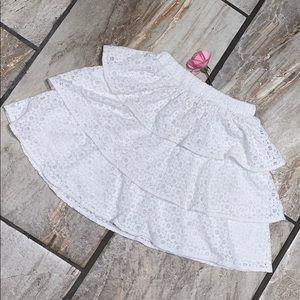 Lacy Ruffly Girls Skirt Size M 7/8